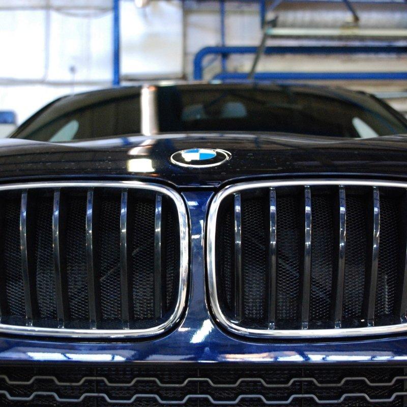 Защитная сетка в бампер и тонировка BMW X4 F26